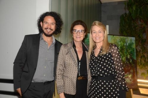 Luciano Zanardo, paisagista, Cristina Ferraz, diretora da Casacor SP e Sueli Dabus